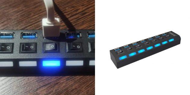 USB-хаб с семью портами