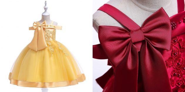 Детские товары: нарядное платье для девочки