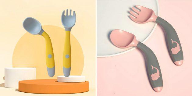 Вещи для детей: комплект из вилки и ложки