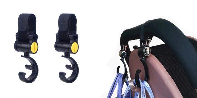 Детские товары: крючки для коляски