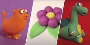 28 простых поделок из пластилина, которые по силам даже ребёнку