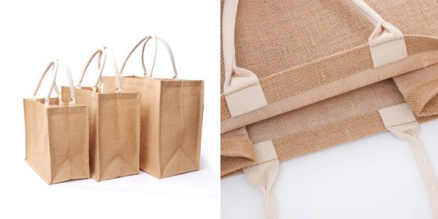 Экотовары: сумка из джута