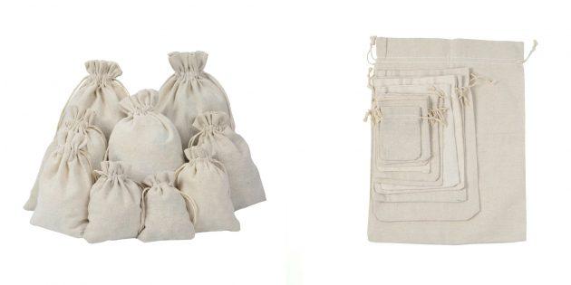 Экотовары: хлопковые мешочки