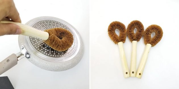 Экотовары: щётка из кокосового волокна