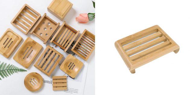 Экотовары: бамбуковая мыльница