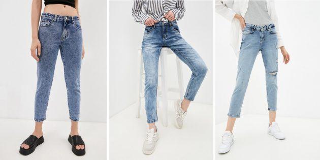 Зауженные джинсы-бойфренды