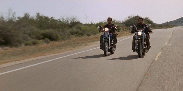 Кадр из фильма про мотоциклы «За пределами закона»