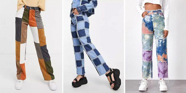 Модные женские джинсы — 2021: в стиле пэчворк