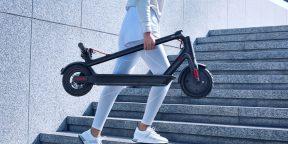 Цена дня: электросамокат Xiaomi Mi Electric Scooter 1S за 19950 рублей вместо 27990