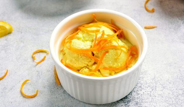 Апельсиновое мороженое с куркумой