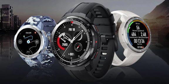 Цена дня: защищённые смарт-часы Honor Watch GS Pro за 8390 рублей
