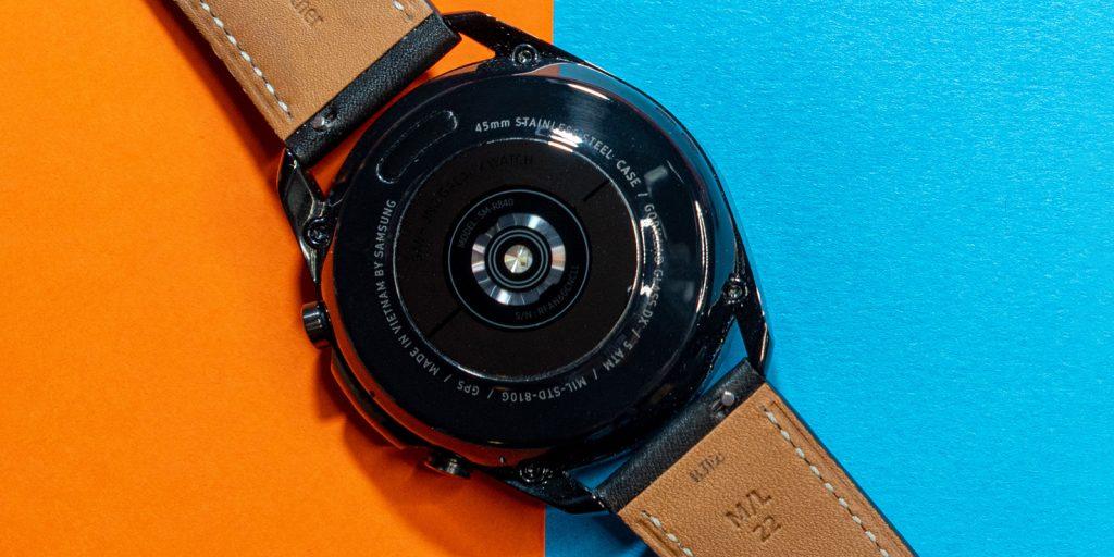 Samsung Galaxy Watch 3: задняя панель