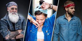 Как завязать и носить бандану: 7 модных способов
