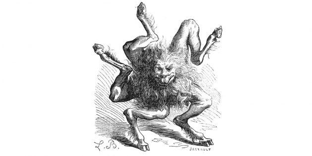 Невероятные существа: демон Буэр, умеющий ходить как колесо