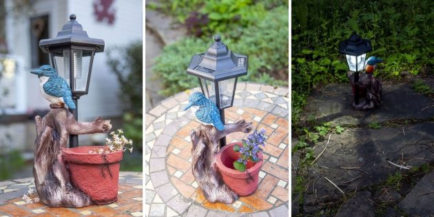 Садовая фигура со светильником