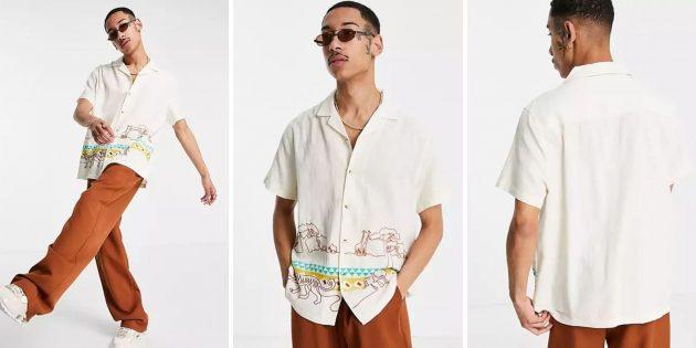 Летняя одежда: мужская рубашка