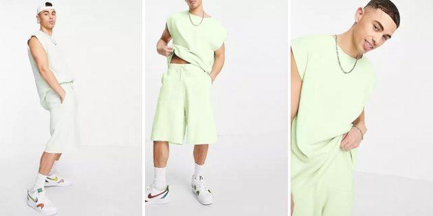 Летняя одежда: мужской костюм с шортами