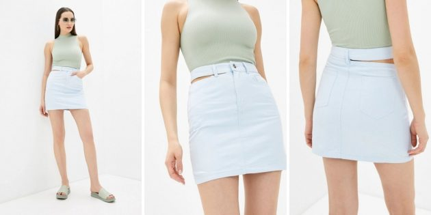 Летняя одежда: юбка с вырезом