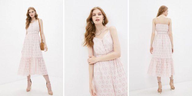 Летняя одежда: сарафан миди