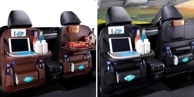 Органайзеры в машину — на спинку переднего сиденья