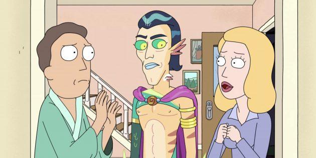 Кадр из 5-го сезона мультсериала «Рик и Морти», 1-я серия