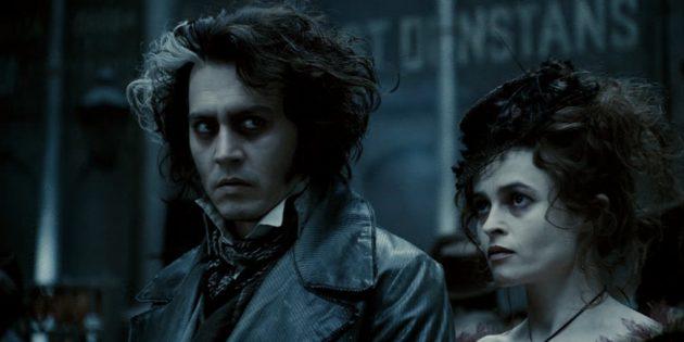 Кадр из фильма с Джонни Деппом «Суини Тодд, демон-парикмахер с Флит-стрит»