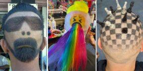 В Сети делятся фото очень странных и необычных причёсок: 10 примеров