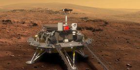 Китайский марсоход прислал селфи и новые цветные фото с Марса