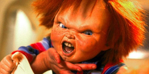 Кадр из фильма ужасов про кукол «Детские игры»