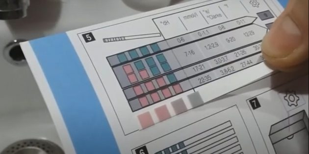 Как определить жёсткость воды в домашних условиях: сравните цвет в окошках индикаторов с образцом в инструкции
