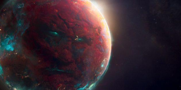 Невероятные существа: разумная планета Эго. Кадр из фильма «Стражи Галактики — 2»