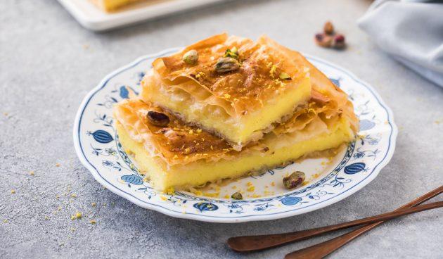 Бугаца — сладкий греческий пирог