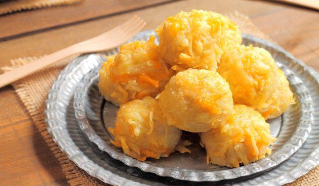 Морковно-сырные шарики, запечённые в духовке