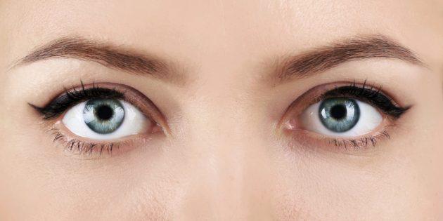 Круглая форма глаз