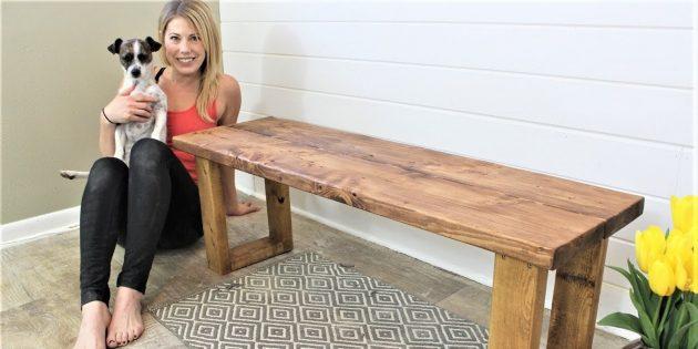 Как сделать скамейку без спинки из бруса своими руками