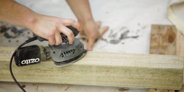 Как сделать скамейку своими руками: тщательно отшлифуйте бруски,
