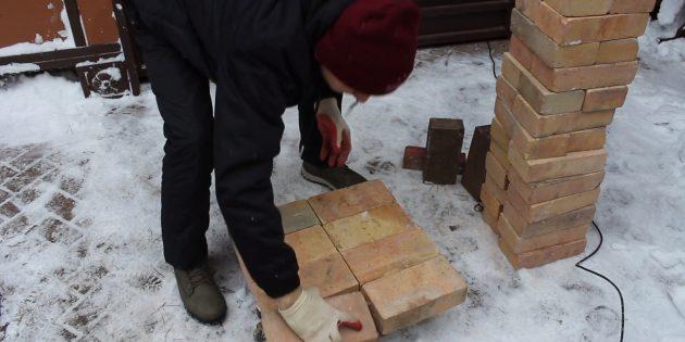 Как сделать тандыр своими руками: Покройте металл сплошным слоем из восьми кирпичей