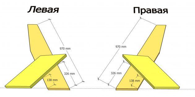 Как сделать скамейку своими руками: соберите боковые части лавки