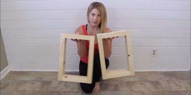 Как сделать скамейку из бруса своими руками: сделайте вторую рамку, и ножки скамьи будут готовы