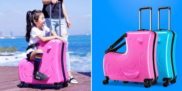 Детский чемодан-каталка Leinasen