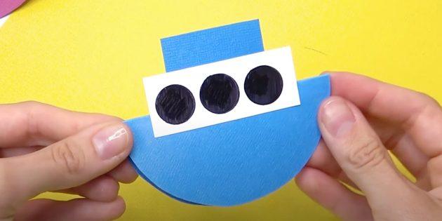 Как сделать кораблик из бумаги: сделайте и приклейте прямоугольник