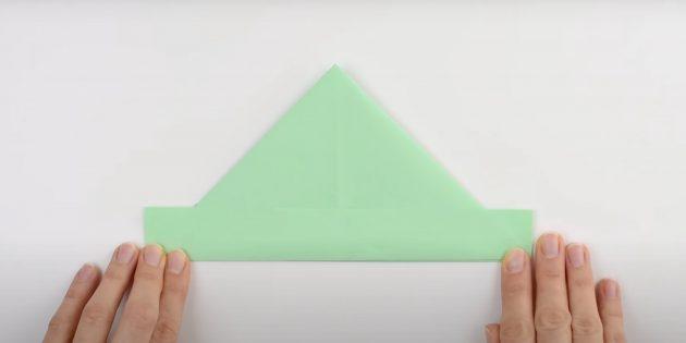 Как сделать кораблик из бумаги: сделайте форму, похожую на пилотку