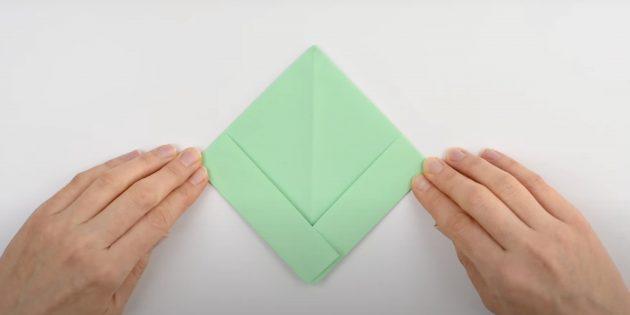 Как сделать кораблик из бумаги: сделайте ромб