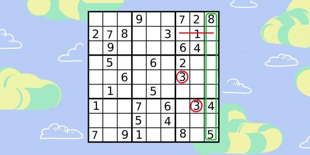 Проанализируйте три малых квадрата