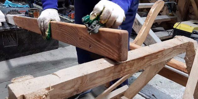 Как сделать скамейку своими руками: покройте лавку маслом, лаком или краской