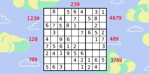 Как решать судоку с помощью анализа малых квадратов: укажите все цифры, которых не хватает