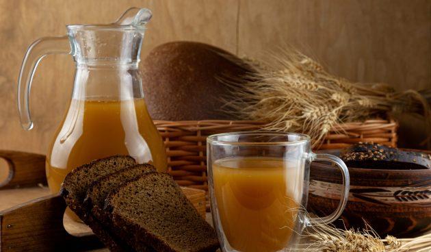 Хлебный квас без дрожжей