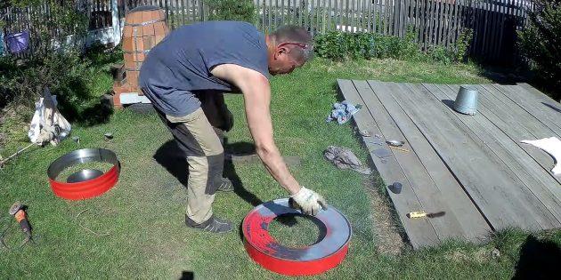 Как сделать тандыр своими руками: Из оставшейся части бочки сделайте крышку