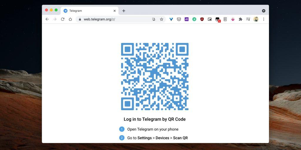 Как удалить сразу несколько контактов в Telegram: откройте веб-версию Telegram и залогиньтесь