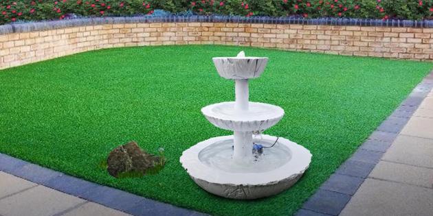Как сделать фонтан своими руками: трёхуровневый фонтан из бетона